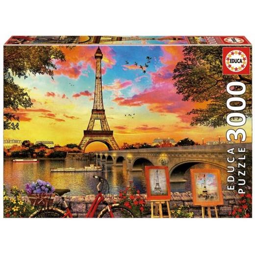 Educa pussel: Sunset in Paris 3000 bitar