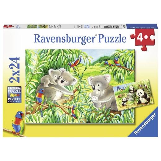 Ravensburger pussel: Sweet Koalas and Pandas 2x24 Bitar