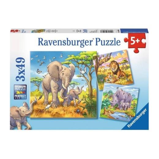 Ravensburger pussel: Wild Animals 3x49 Bitar