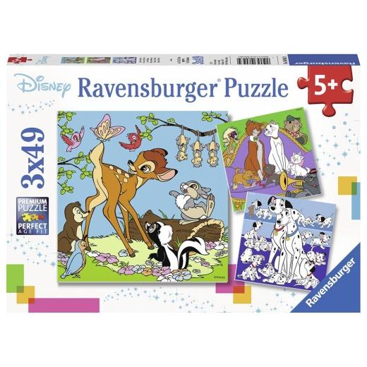 Ravensburger pussel: Disney Friends 3x49 Bitar