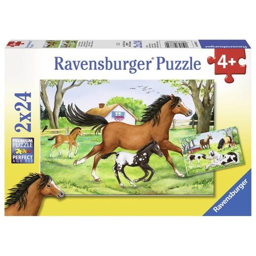 Ravensburger pussel: World of Horses 2x24 Bitar