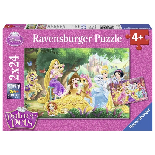 Ravensburger pussel: Best Friends Of The Princes 2x24 Bitar i gruppen PUSSEL / Barnpussel hos Spelexperten (10108952)