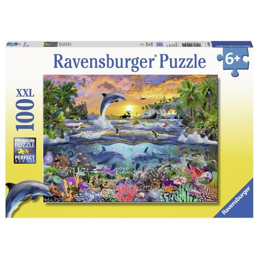 Ravensburger pussel - Tropical paradise 100 Bitar