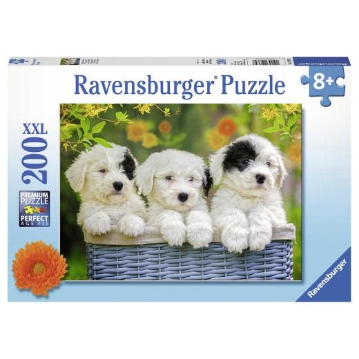 Ravensburger Pussel - Cuddly Puppies 200 Bitar