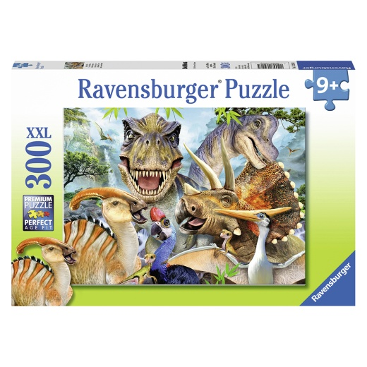 Ravensburger Pussel - Delighted Dinos 300 Bitar i gruppen PUSSEL / < 625 bitar hos Spelexperten (10113246)