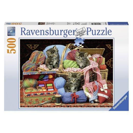 Ravensburger Pussel - Knitter`s Delight 500 bitar