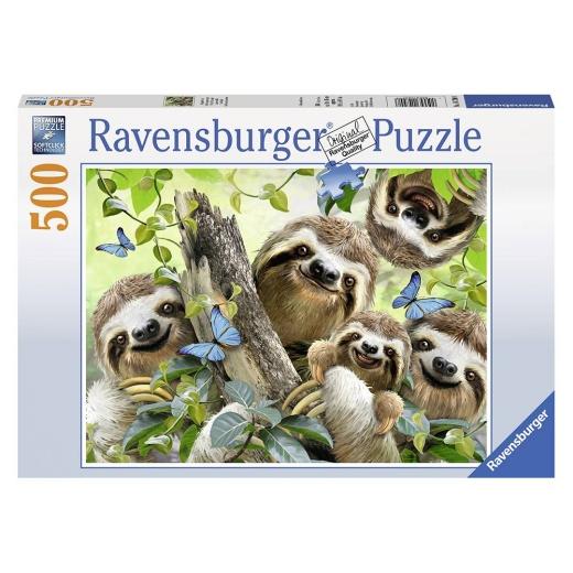 Ravensburger Pussel - Sloth Selfie 500 bitar