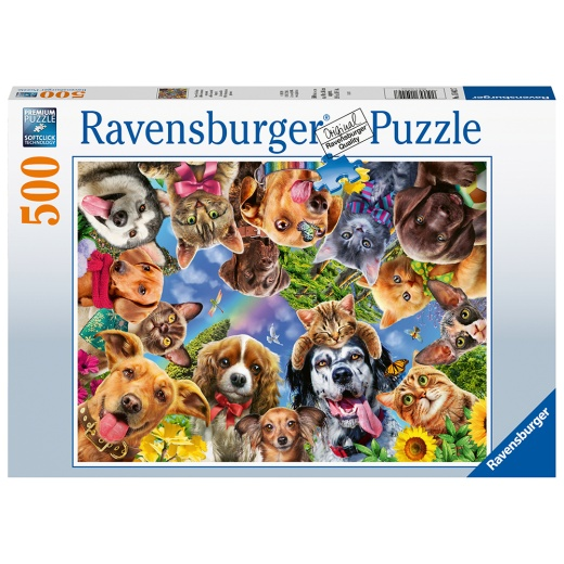 Ravensburger Pussel - Animal selfie 500 Bitar