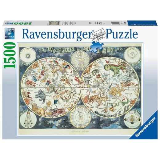 Ravensburger pussel - World map of fant. beasts 1500 Bitar