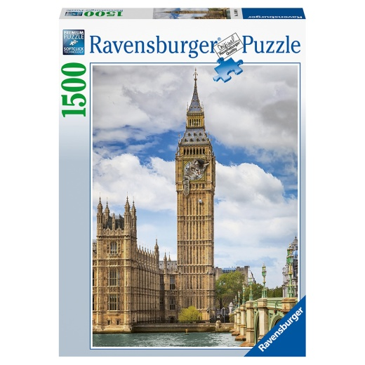 Ravensburger pussel - Funnycat on Big Ben 1500 Bitar
