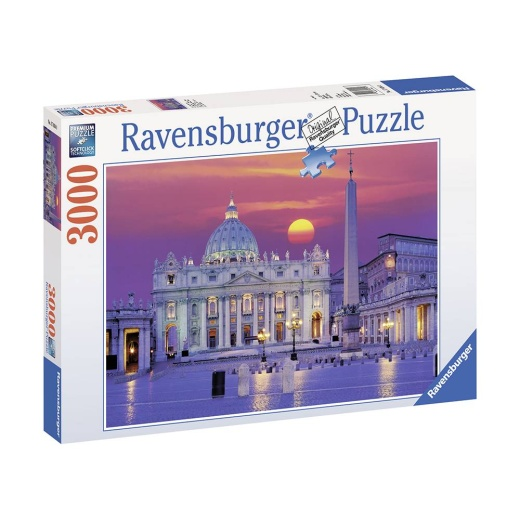 Ravensburger pussel: St.Peter's Cathedral Rome 3000 bitar