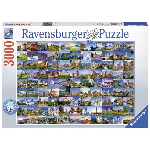 Ravensburger pussel - 99 Beaut.Places of Europe 3000 Bitar