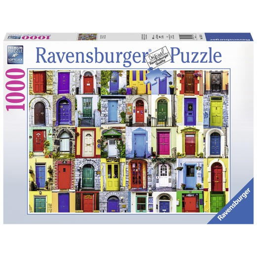 Ravensburger pussel - Doors of the World 1000 Bitar i gruppen PUSSEL / 1000 bitar hos Spelexperten (10219524)