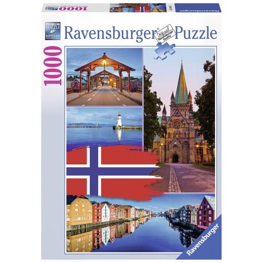 Ravensburger pussel - Trondheim Collage 1000 Bitar