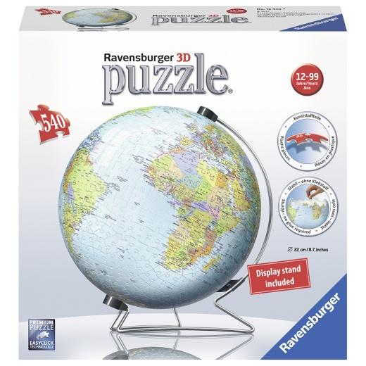 Ravensburger 3D Pussel - World Globe 540 Bitar