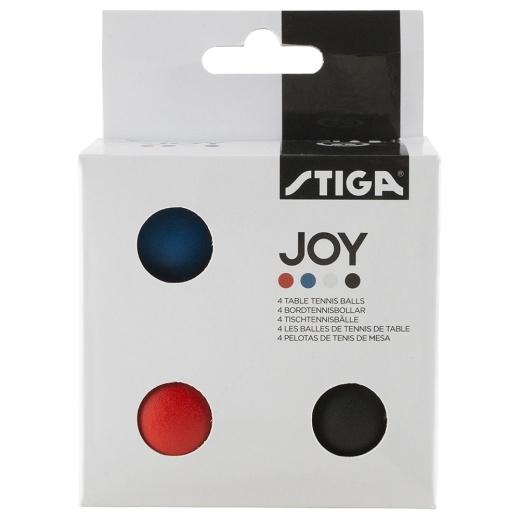 Stiga Joy Bordtennisbollar 4-pack