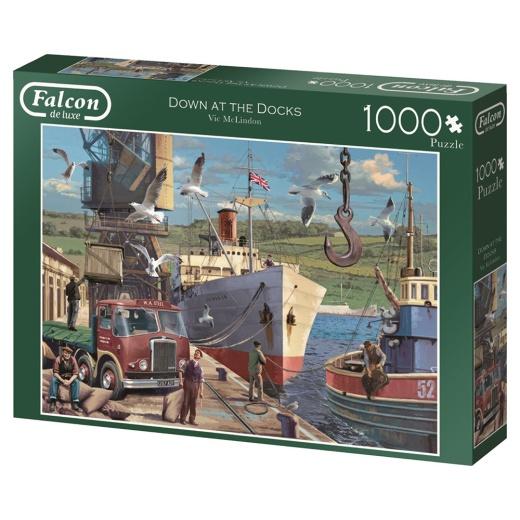 Jumbo Pussel - Down the docks 1000 Bitar