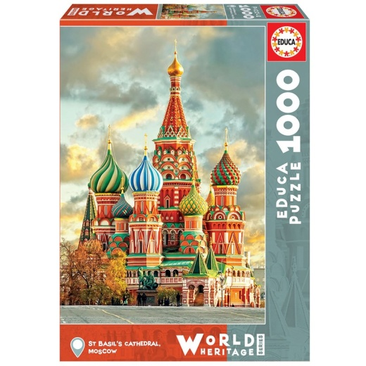 Educa Pussel: St. Basil's Cathedral, Moscow - 1000 Bitar