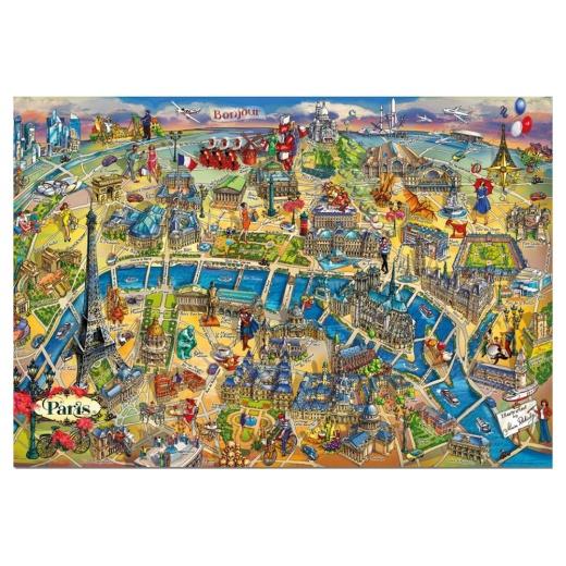 Educa Pussel: Paris Map 500 Bitar