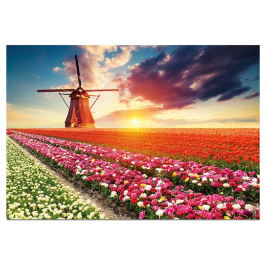Educa pussel: Tulips Landscape 1500 Bitar