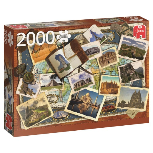 Jumbo pussel - Wonders of the world 2000 Bitar