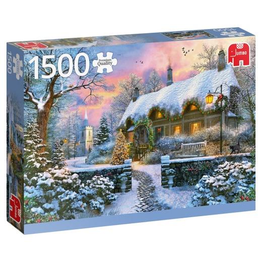 Jumbo Pussel - Whitesmith's cottage in winter 1500 Bitar