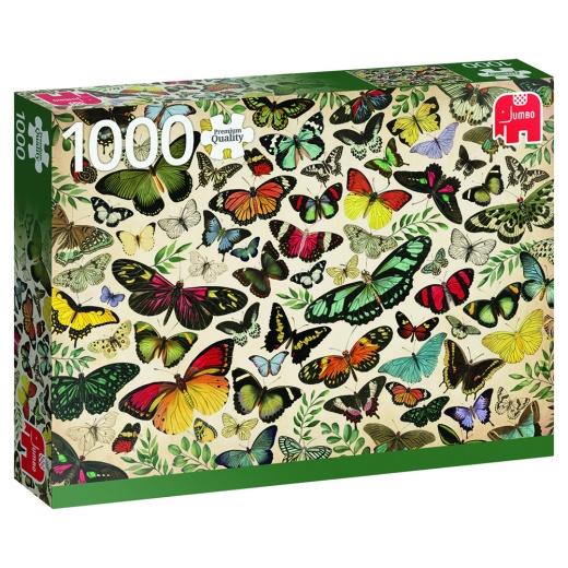 Jumbo Pussel - Butterfly poster 1000 Bitar