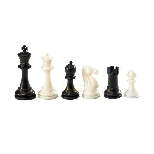 Schackpjäser Nerva Black/White 95 mm