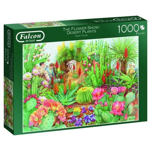 Jumbo Pussel - The flower show: Desert plants 1000 Bitar