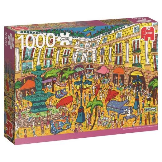 Jumbo Pussel - Placa Reial, Barcelona 1000 bitar