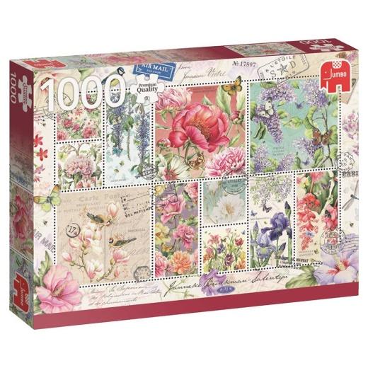 Jumbo Pussel - Flower Stamps 1000 bitar
