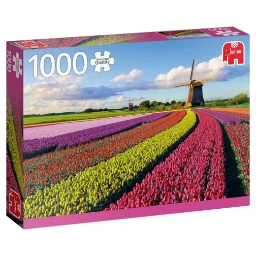 Jumbo Pussel - Field of tulips 1000 Bitar