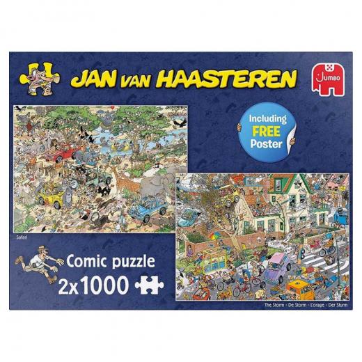 Jan Van Haasteren pussel - The Storm 2x1000 bitar
