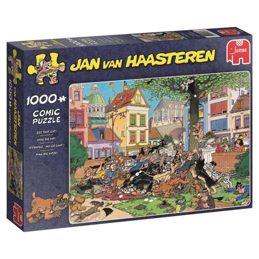 Jan van Haasteren Pussel - Get That Cat! 1000 bitar