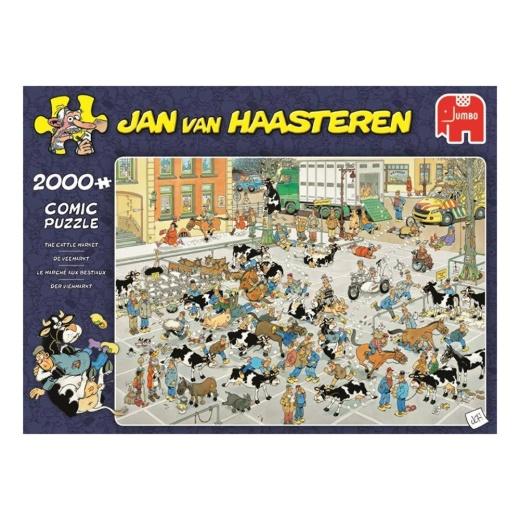 Jan Van Haasteren pussel - The Cattle Market 2000 bitar