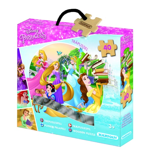 Kärnan Askpussel i trä - Disney Princess 40 Bitar