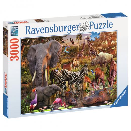 Ravensburger pussel: Afrikanska Djur 3000 bitar