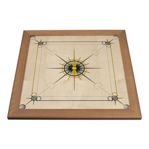 Carrom Superior Blue-Yellow-Green i gruppen SPELBORD / Carrom hos Spelexperten (8231)