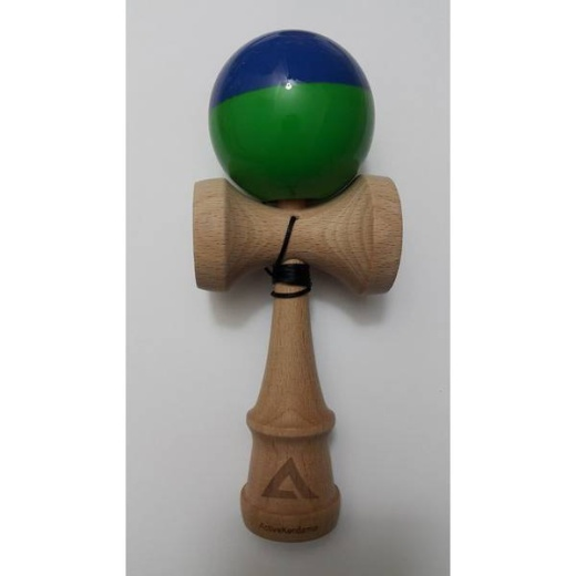 Active V2 Half Split - Blue and Green - Tacky i gruppen LEKSAKER / Kendama / Active Kendama hos Spelexperten (ACT103)