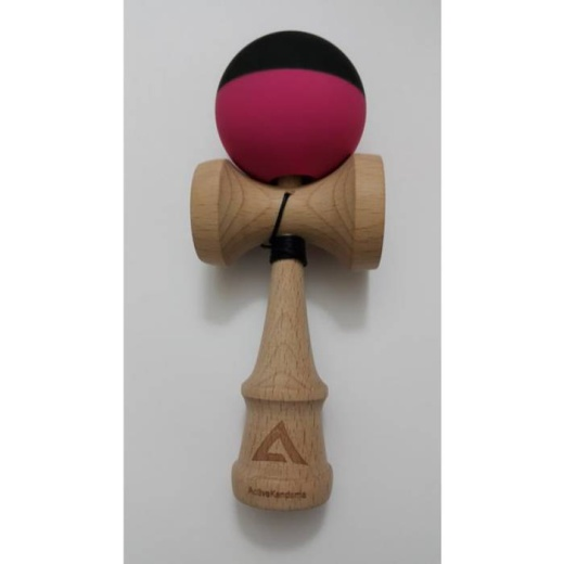 Active - V2 Half Split - Black and Pink - Rubberized i gruppen LEKSAKER / Kendama / Active Kendama hos Spelexperten (ACT12)