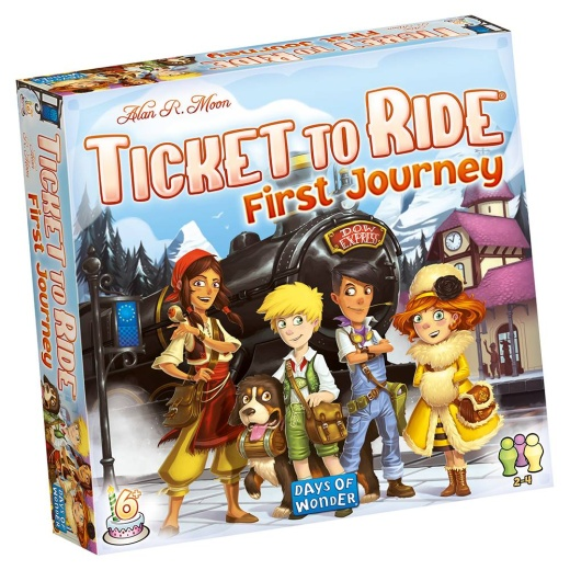 Ticket to Ride: First Journey (Swe.) i gruppen SÄLLSKAPSSPEL / Barnspel hos Spelexperten (DOW720927)