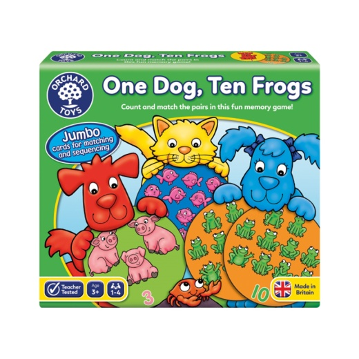 One Dog, Ten Frogs