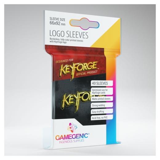 Keyforge Logo Sleeves - Black