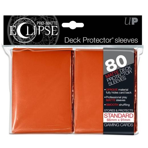 PRO-Matte Eclipse Orange Standard sleeves 80 st (66 x 91 mm)