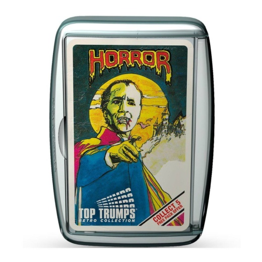 Top Trumps Limited Edition - Horror 1 Retro Pack i gruppen SÄLLSKAPSSPEL / Kortspel hos Spelexperten (WIN0215)