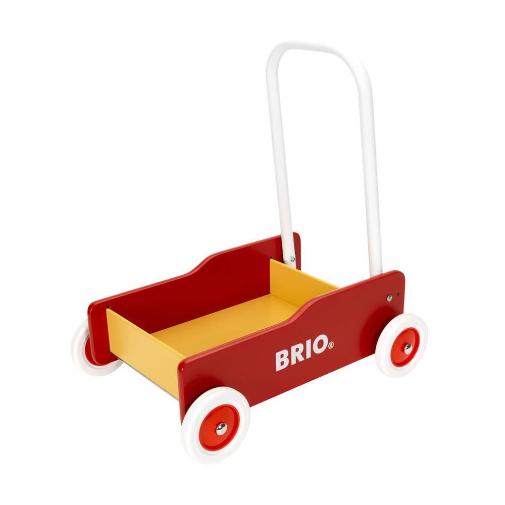 brio lära gå vagn röd